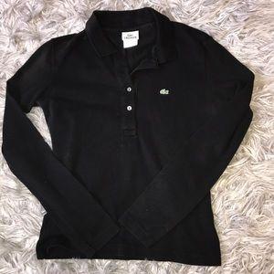 LaCoste long sleeved black shirt